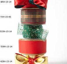 "1.5"" wired Christmas ribbon kit"