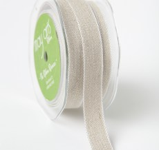 Natural White Edge Ribbon