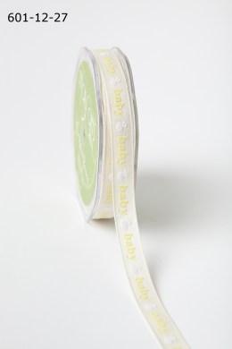 Yellow Baby Duck Print Ribbon