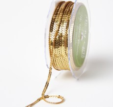 Gold Mini Sequin Single Strand Ribbon