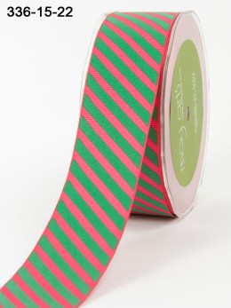Variation #154095 of Team Spirit Trend – 1.5 Inch Grosgrain Ribbon w/ Diagonal Stripes