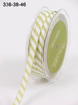 Variation #154088 of 3/8 Inch Grosgrain Ribbon w/ Diagonal Stripes Ribbon
