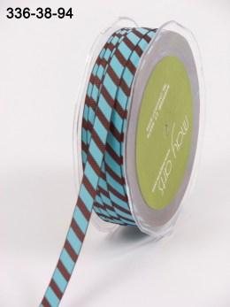 Variation #154089 of 3/8 Inch Grosgrain Ribbon w/ Diagonal Stripes Ribbon