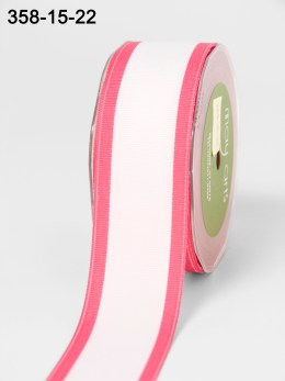 Variation #154277 of 1.5 Inch White Grosgrain / Band Edge Ribbon