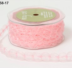 Variation #154364 of 5/8 Inch Sheer / Looped Trim Ribbon