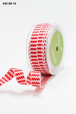 Variation #155216 of 5/8 Inch Woven Chevron Stripes / Wired Ribbon