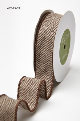 Variation #155685 of 1.5 Inch Woven Herringbone Ribbon / Wired