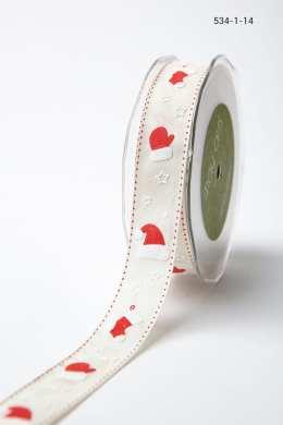 Variation #156048 of 1 Inch Linen Holiday Print Ribbon