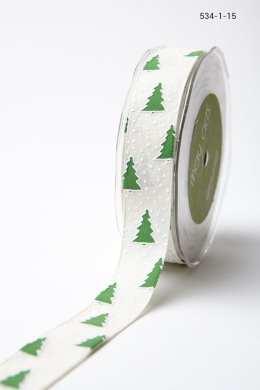 Variation #156049 of 1 Inch Linen Holiday Print Ribbon