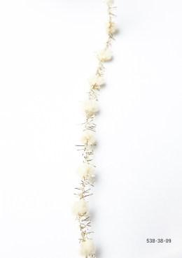 Variation #155984 of 3/8 Inch Pom Pom with Metallic Fringe