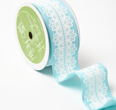 Variation #157294 of 1.5 Inch White Lace Center Design Ribbon