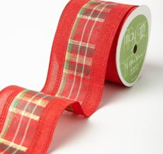 Variation #184676 of 2.5 Inch Plaid w/ Solid Edges Ribbon
