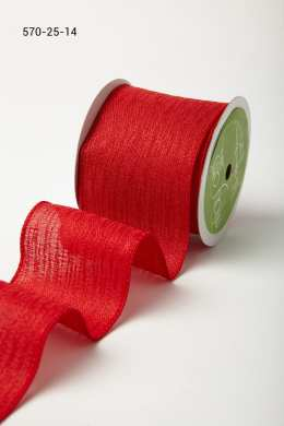 Variation #184702 of 2.5 Wired Inch Solid w/ Waves Ribbon