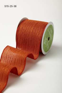Variation #184704 of 2.5 Wired Inch Solid w/ Waves Ribbon
