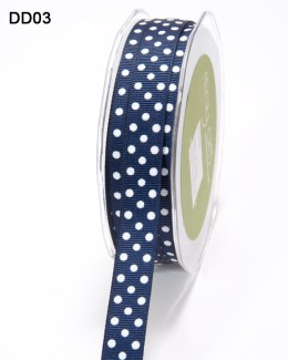 DD-8-03 - 5/8 Inch Grosgrain Dots Ribbon