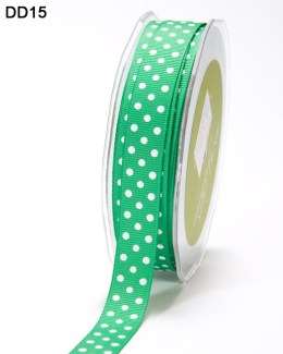 DD-8-15 5/8 Inch Grosgrain Dots Ribbon