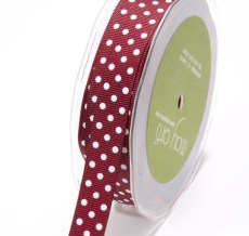DD-8-25 5/8 Inch Grosgrain Dots Ribbon
