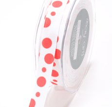 DD-8-44 5/8 Inch Grosgrain Dots Ribbon