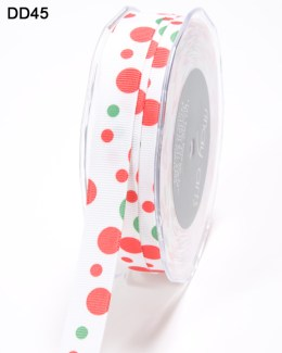 DD-8-45 - 5/8 Inch Grosgrain Dots Ribbon
