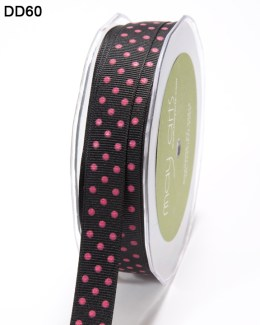DD-8-60 - 5/8 Inch Grosgrain Dots Ribbon