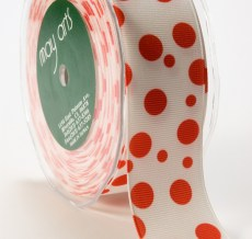 DD-5-44 1.5 Inch Grosgrain Dots Ribbon