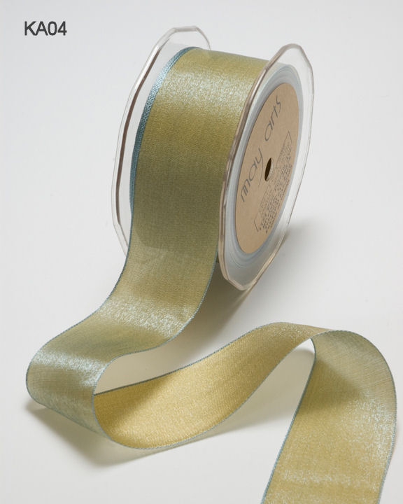 5 Yards May Arts Burgundy 1//4 Inch Woven Iridescent Ribbon KA25