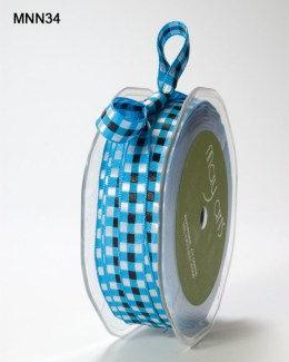 Variation #151474 of 3/8 Inch SOLID/WOVEN CHECK Ribbon