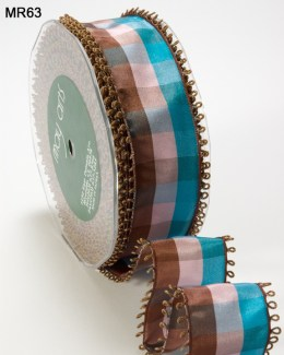 Variation #151483 of 1.5 Inch PLAID/LOOP EDGE/WIRED Ribbon