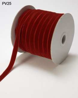 Variation #0 of 3/8 Inch Velvet Woven Ribbon