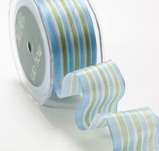 Variation #152522 of 1.5 Inch Solid Stripes Wired Ribbon