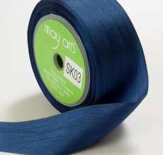 Navy Silk Ribbon