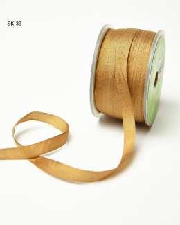 Antique Gold Silk Ribbon