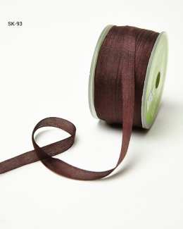 Chocolate Brown Silk Ribbon