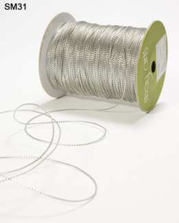 Silver Sheer Iridescent Ribbon