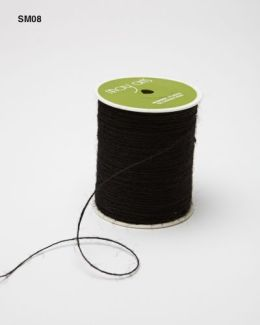 Black Burlap String Ribbon