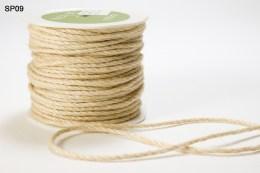Ivory Burlap Cord Ribbon