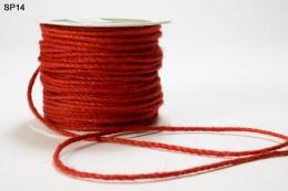 Red Burlap Cord Ribbon