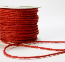 Red Burlap Cord Ribbon