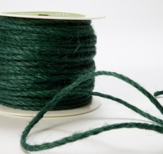 Green Burlap Cord Ribbon