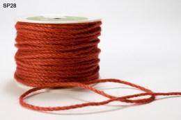 Orange Burlap Cord Ribbon