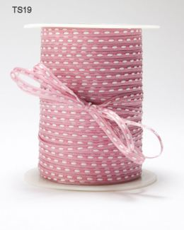 Mauve Solid Stitched Center Ribbon
