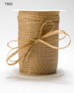Antique Gold Solid Stitched Center Ribbon