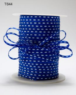 Royal Blue Solid Stitched Center Ribbon
