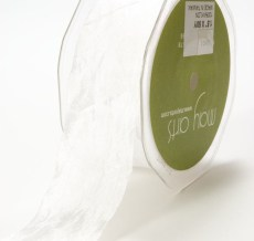 White Silky Crush Ribbon