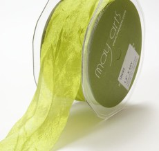 Parrot Green Silky Crush Ribbon