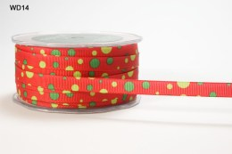 Red,Green and Yellow Grosgrain Bubble Dot Ribbon