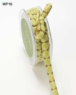 Olive and Sage Chenille Center Dot Ribbon