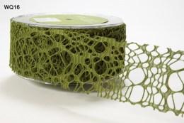 Olive Webbed Weave Ribbon