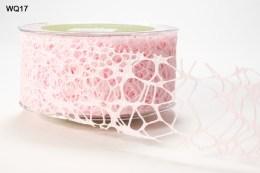 Pink Webbed Weave Ribbon