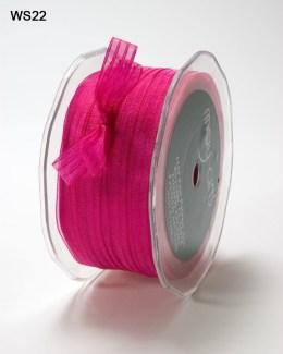 Fuchsia Sheer Iridescent Pinstripe Ribbon